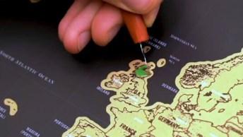 Mapa Do Mundo Para Ir Marcando Os Países Que Já Visitou, Muito Legal!
