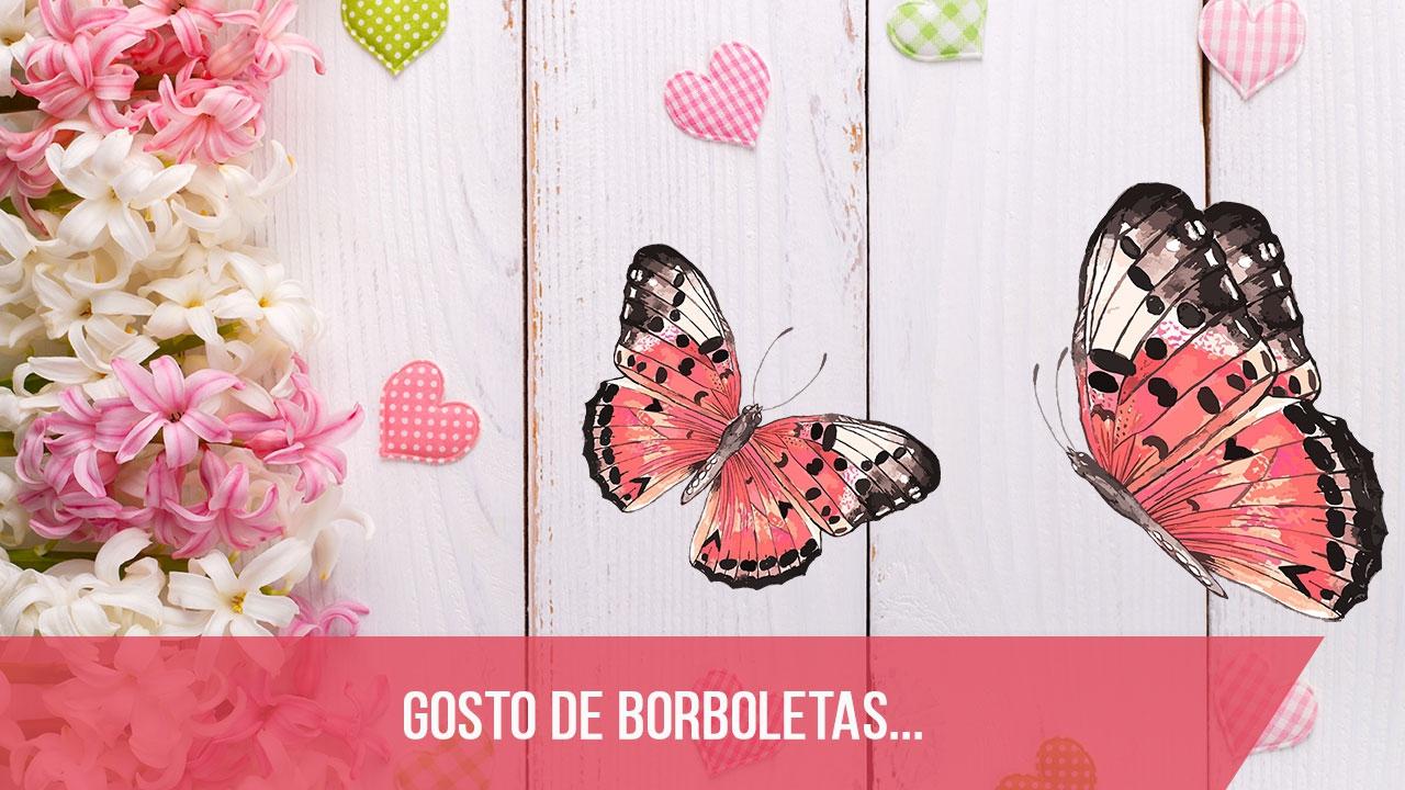 Mensagem com borboletas, com lindas imagens para compartilhar