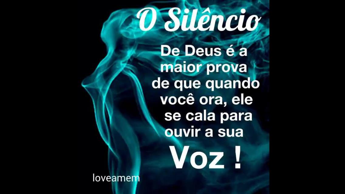 Mensagem o silêncio de Deus