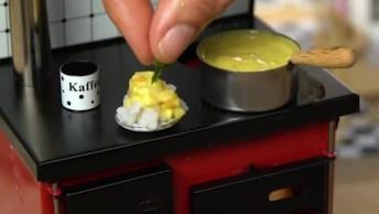 Miniatura De Fogão E Panelas Que Dá Para Cozinhar De Verdade!