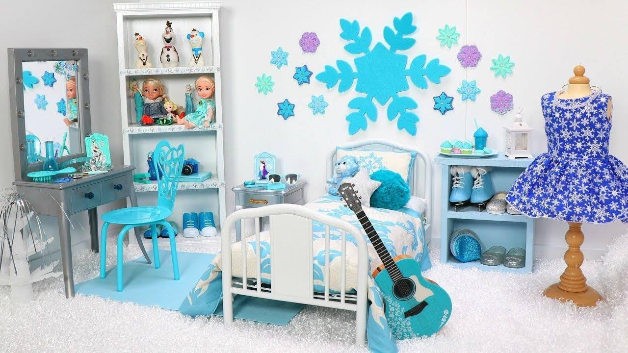 Miniatura de quarto com tema de Frozen