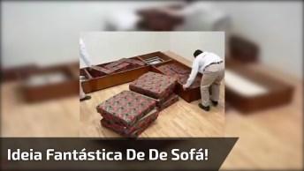 Muito Legal Esse Sofá! Olha Só Que Ideia Fantastica De Modelo De Sofá!