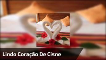 Muito Legal Esse Vídeo! Veja Como Fazer Um Lindo Coração De Cisne!