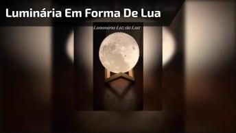 Muito Legal Esta Luminária Em Forma De Lua, Olha Só Que Linda!