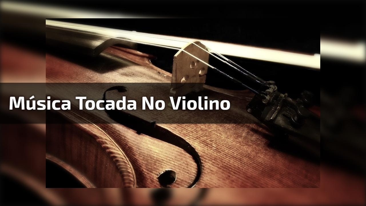 Música tocada no violino
