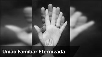 Obra De Arte Para Eternizar A União Familiar, Lindo A Ideia!