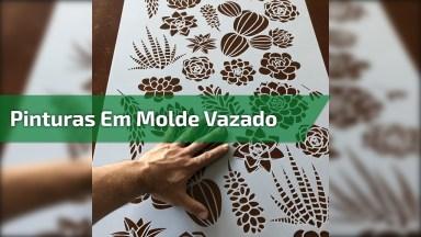 Pinturas Incríveis Feitas Com Stencil Molde Vazado, Uma Ideia Bem Legal!