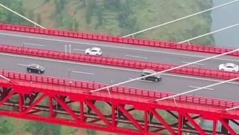 Ponte Em Lugar Super Alto E Com Uma Vista Incrível, Chega A Gelar O Estômago!