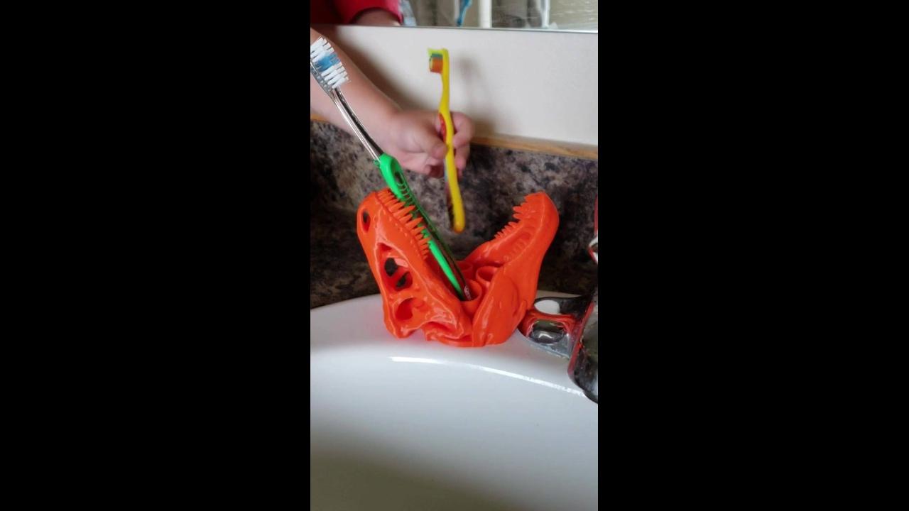 Porta-escova de dente mais diferente e legal que vai ver hoje