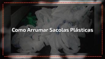 Que Vídeo Legal, Muito Boa Essa Ideia Para Organizar Sacolas Plasticas!