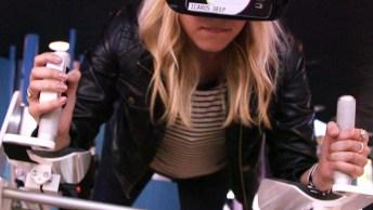 Ralidade Virtual Faz As Pessoas Simularem Que Estão Voando E Muito Mais!