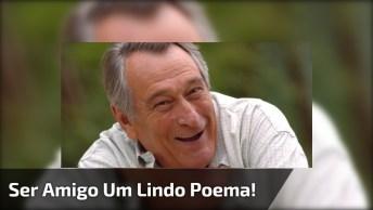 'Ser Amigo', Um Lindo Poema De Paulo Goulart Para Você Compartilhar!
