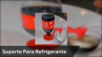 Suporte Para Garrafas De Refrigerantes, Super Prático, Confira!