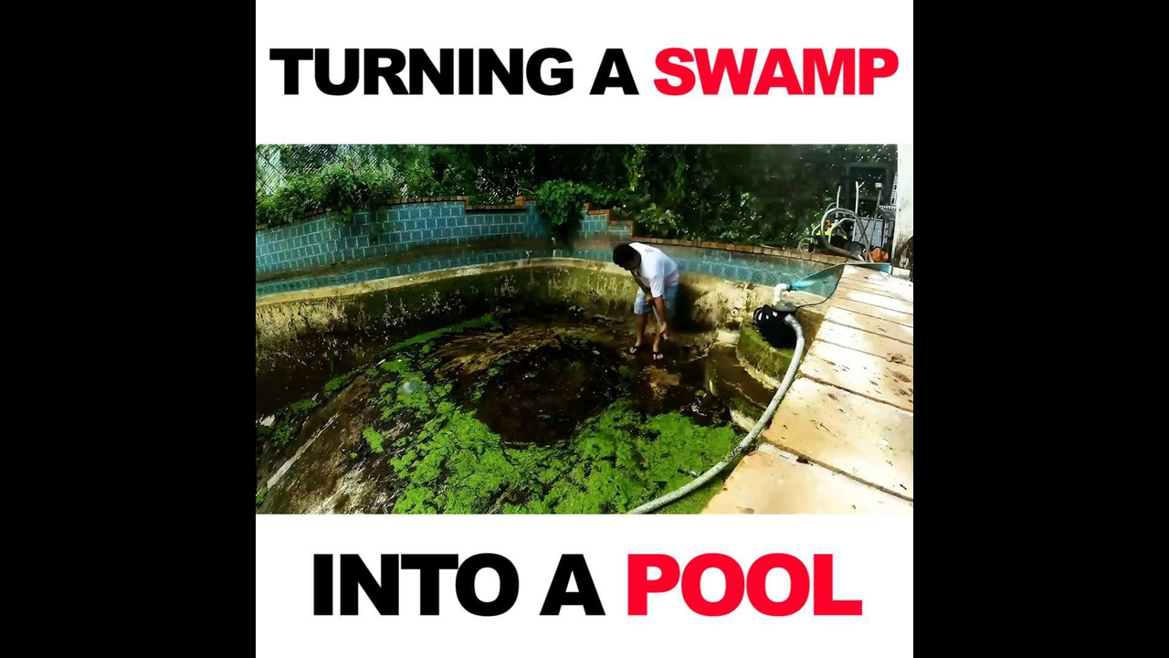 Transformação incrível em uma piscina
