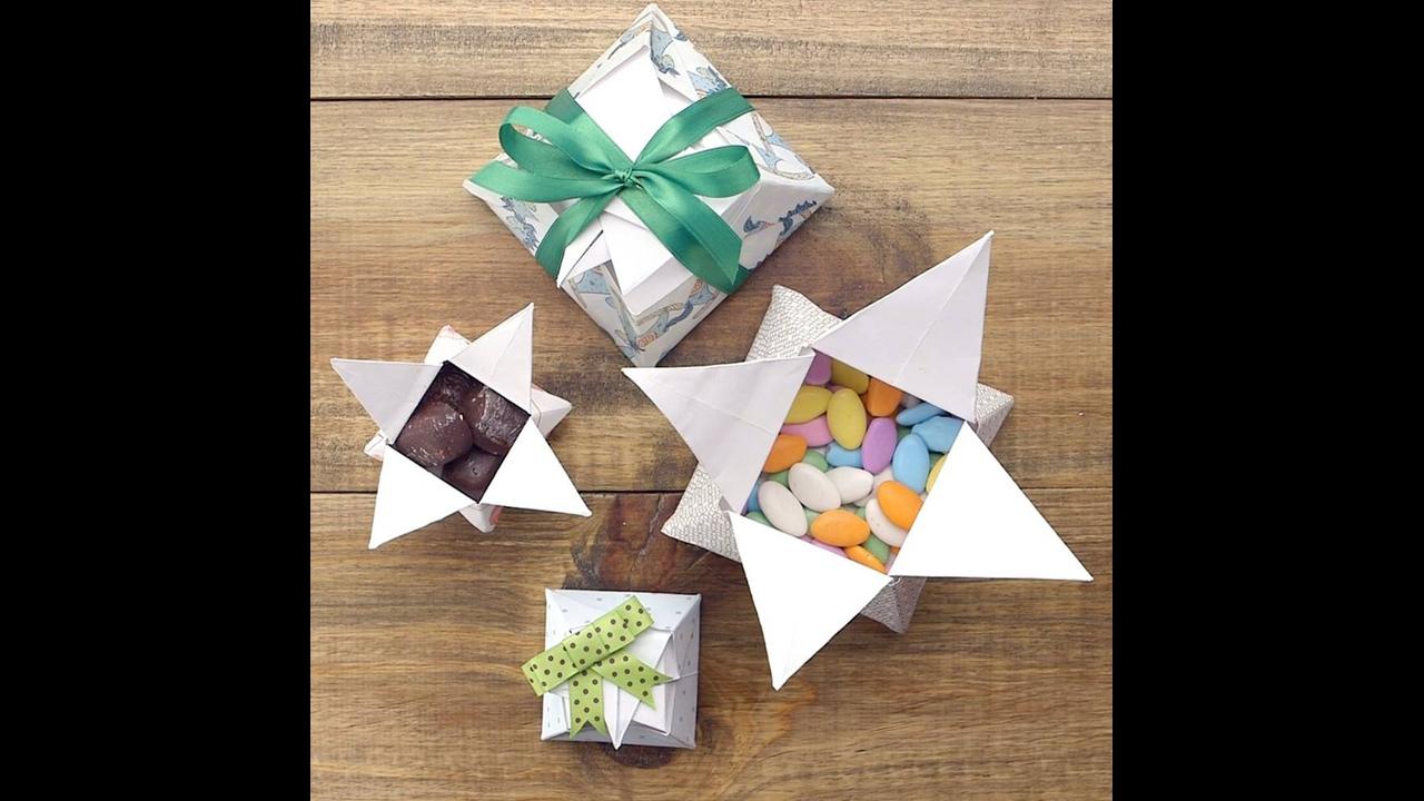 Tutorial de caixa de presente origami