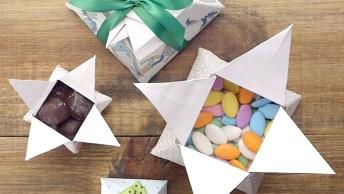 Tutorial De Caixa De Presente Origami, Um Jeito Fácil E Barato De Embrulhar!