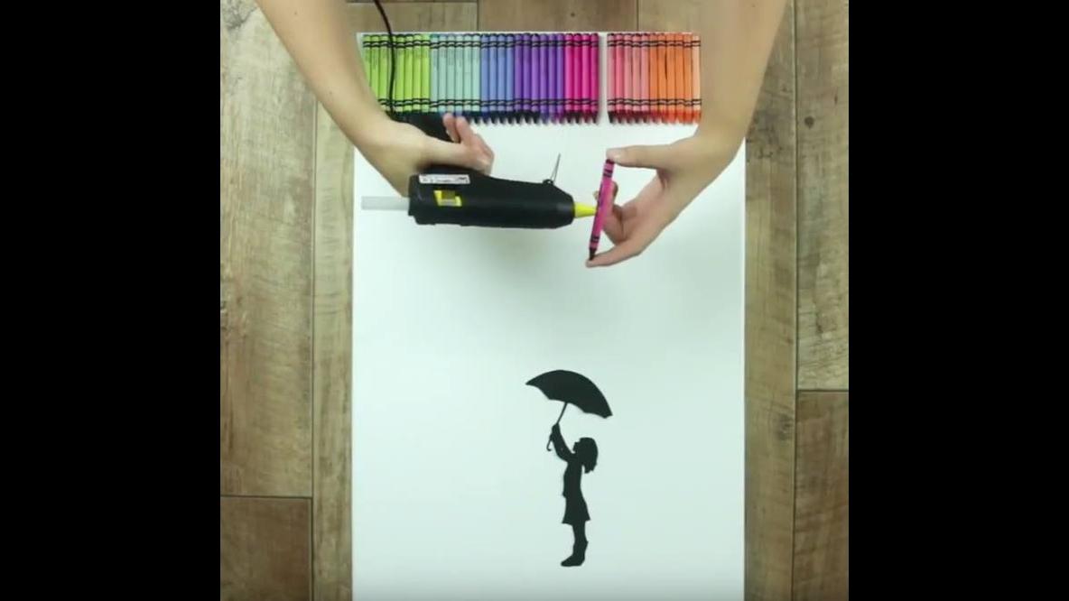 Tutorial de como fazer um quadro lindo usando giz de cera