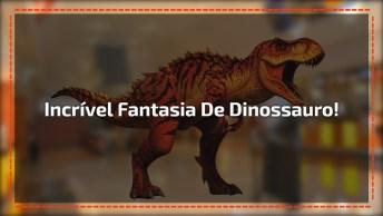 Um Dinossauro Quase De Verdade, Ficou Muito Perfeito. Confira!