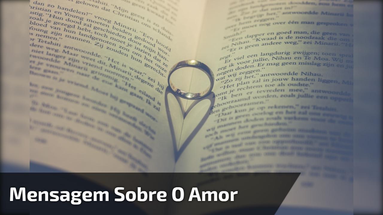 Mensagem sobre o amor