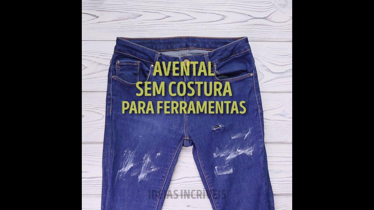 Uma ótima ideia para fazer com a quela calça jeans velha
