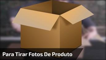 Veja Como Fazer Um Pequeno Senário Para Tirar Fotos De Produtos!