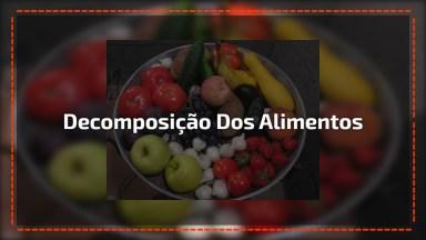 Vídeo Com A Decomposição Dos Alimentos, Olha Só Que Legal!