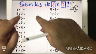 Vídeo Com Dica De Tabuada De 8 E De 9, Vale A Pena Conferir!