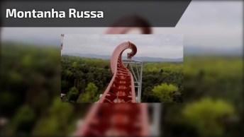 Vídeo Com Montanha Russa Mais Louca Que Você Já Viu Na Vida!
