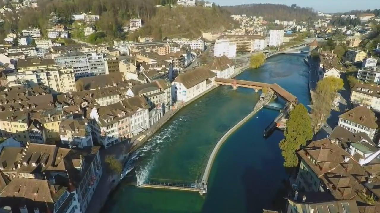Vídeo mostrando um pouquinho de Lucerna-Suíça