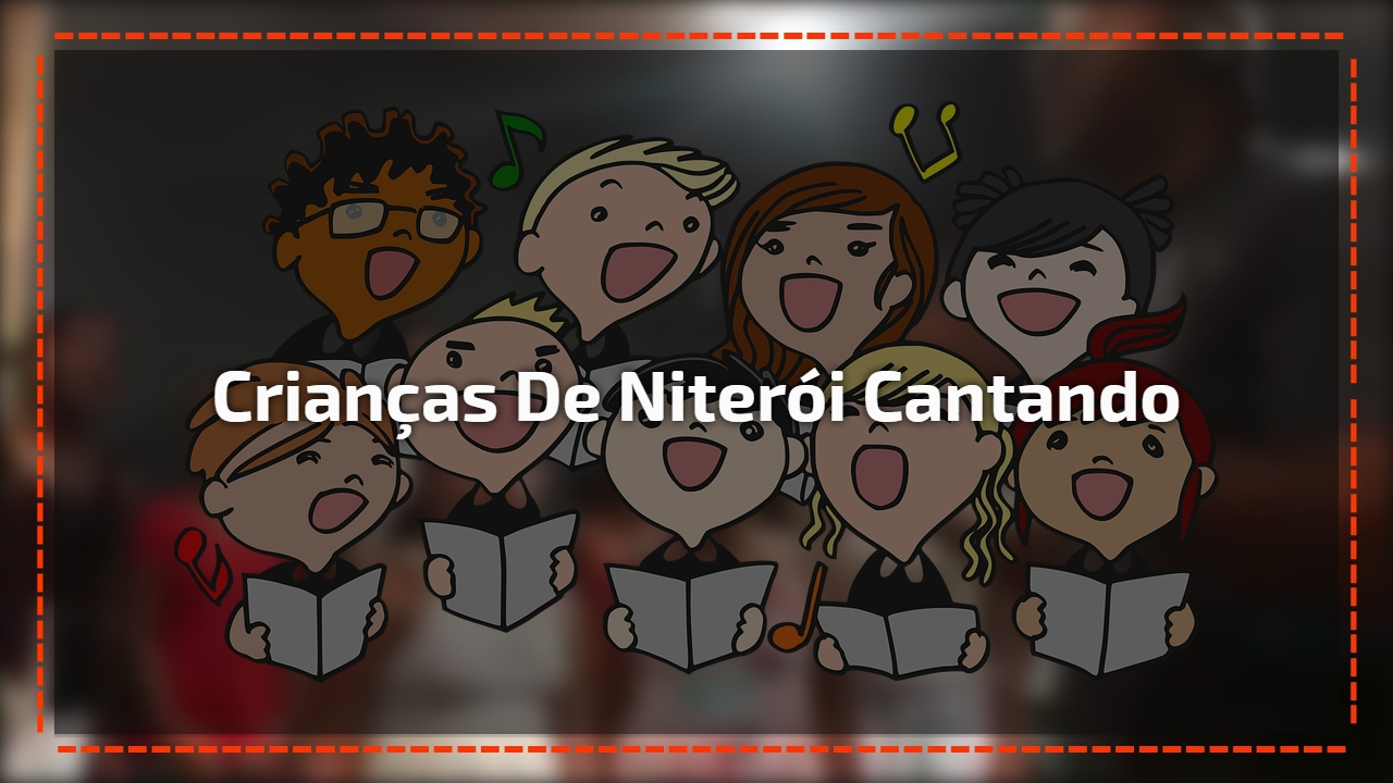 Crianças de Niterói cantando