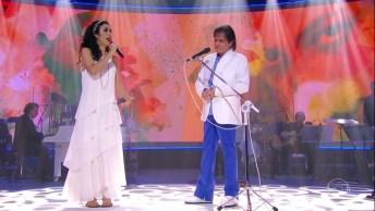 Roberto Carlos E Marisa Monte Cantando 'Ainda Bem', Muito Lindo!