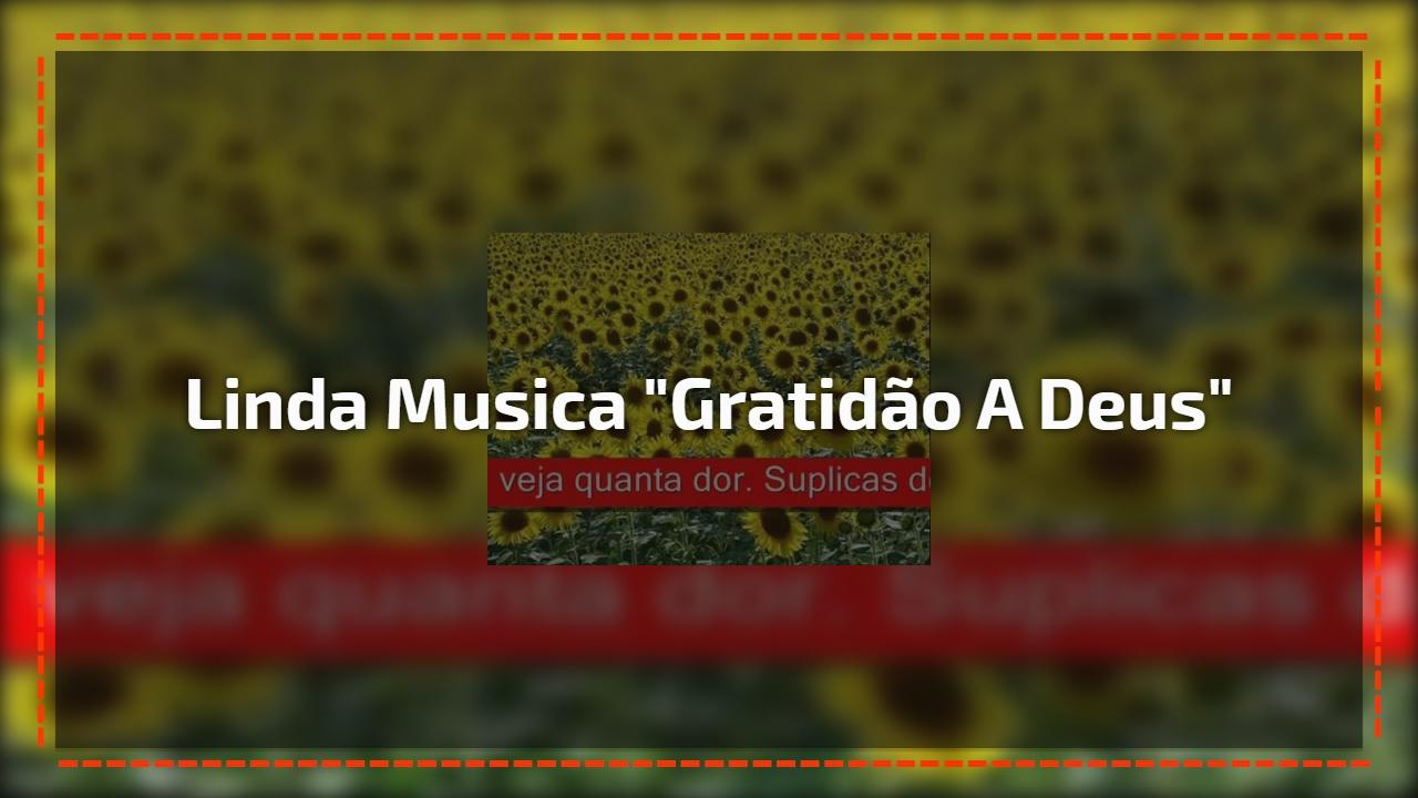 """Linda musica """"Gratidão a Deus"""""""