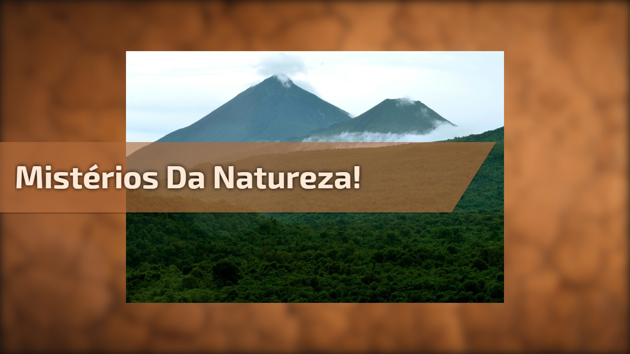 Mistérios da Natureza!