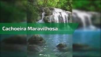 Cachoeira Em Algum Lugar Do Mundo, A Natureza É Maravilhosa!