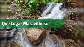 Cachoeira Fantástica, Veja Que Lugar Maravilhoso Para Quem Curte Natureza!