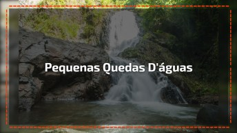 Cachoeira Linda Cheia De Pequenas Quedas D'Águas, Veja Que Lugar Lindo!