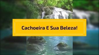 Cachoeira Linda Em Algum Lugar Na Terra, A Natureza É Simplesmente Maravilhosa!