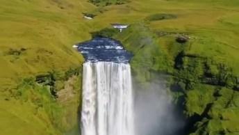 Cachoeira Linda, Veja O Tamanho Desta Queda D'Água, Natureza Maravilhosa!