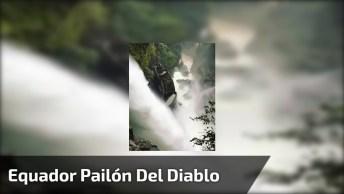 Cachoeira Mais Alta De Equador Pailón Del Diablo Fica Em Baños!