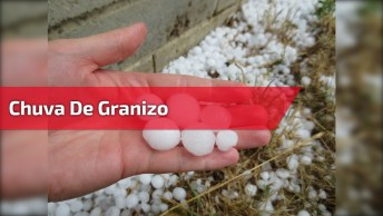 Chuva De Granizo, Olha O Tamanho Das Pedras De Gelo, A Natureza Impressiona!