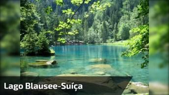Conheça O Lindo Lago Blausee, Um Lugar Magnifico Que Fica Na Suíça!