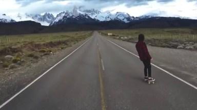 Estrada Com Paisagem Natural Maravilhosa, Imagina Andar De Skate Por Ali!