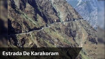 Estrada De Karakoram Nas Montanhas No Paquistão, Veja Que Imagens Incríveis!