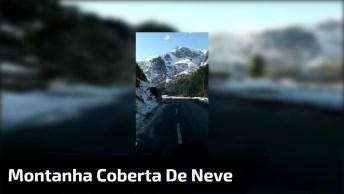Estrada Em Montanha Rodeada Por Natureza E Neve, Veja Que Lindas Imagens!