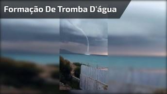 Formação De Tromba D'Água Em Alto Mar, Veja Que Fantástico!
