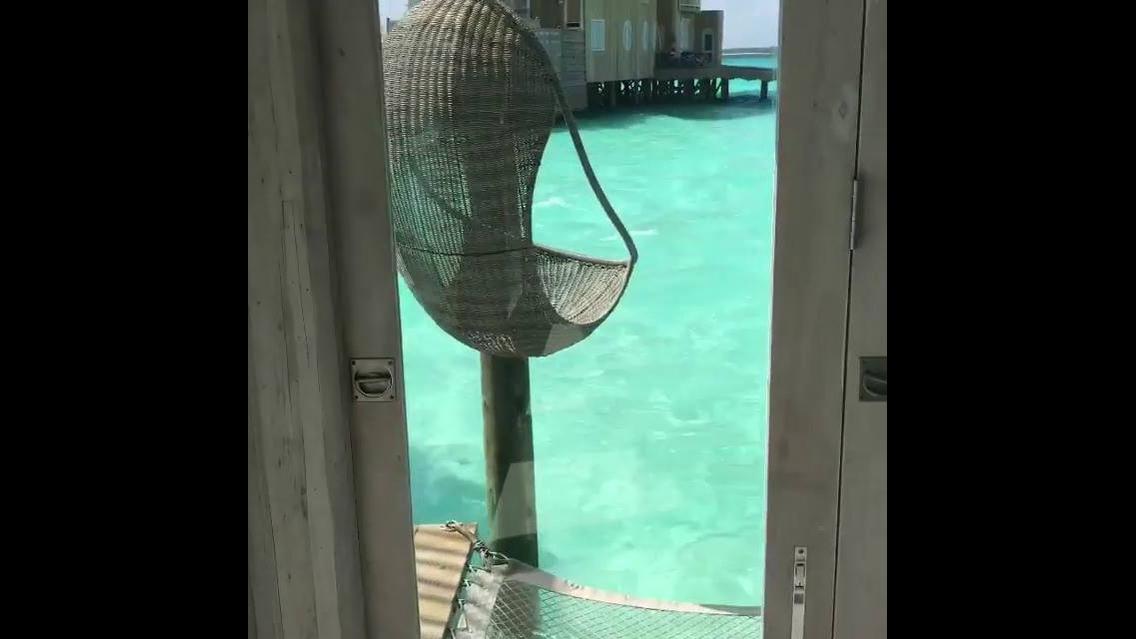 Hotel a beira mar nas Ilhas Maldivas