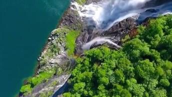 Imagens Da Cachoeira Sete Irmãs Na Noruega, Um Lugar Maravilhoso!