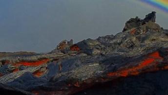 Lavas Do Vulcão Kilauea Que Fica No Parque Nacional De Vulcões Do Havaí!