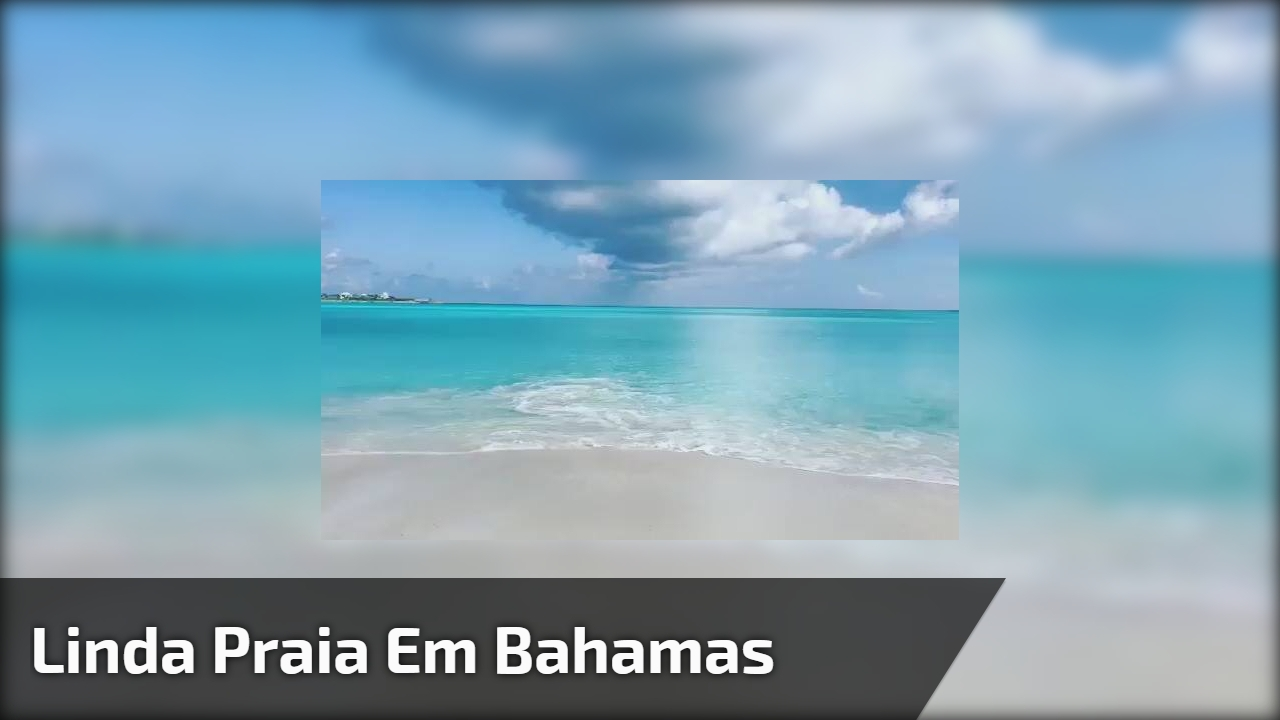 Linda praia em Bahamas, o que dizer sobre estas águas límpidas!!!