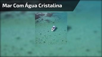 Mar Lindo Com Água Cristalina, Um Pedaço Do Paraíso Na Terra!